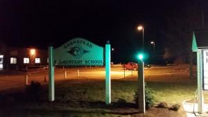 Green Light a Veteran recognition at Barnstead Elementary School